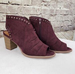 Women's open toe open back ankle boots